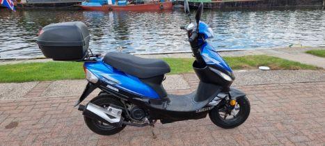 2017 AJS Digita scooter, 49cc. Registration number YY67 DKJ. Frame number L4HCTEBP7H6001673.