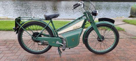 C.1940 New Hudson Autocycle, 98cc. Registration number not registered. Frame number not found.