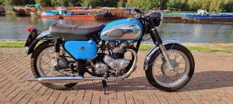 1962 AJS Model 31 CSR, 646cc. Registration number 675 XVM (non transferrabel). Frame number