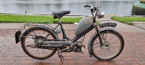 1956 Hercules Her-cu-Motor, 49cc. Registration number FXG 993 (not on DVLA register). Frame number