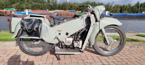 1969 Velocette LE, 200cc, EX MET Police. Registration number AMU 150H. Frame number 8845/34.