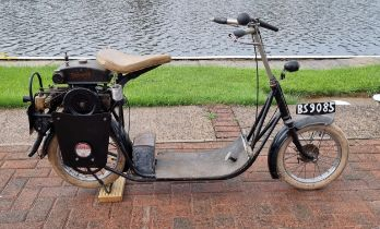 1919 A.B.C. Skootamota, 125cc. Registration number BS 9085 (non transferrable), frame number 3428.