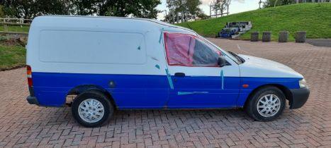 2001 Ford Escort 75TD van, project. Registration number Y91 LCP. Chassis number WFOVXXBBAV1J88146.