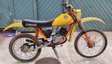 c.1987, Puch Condor, 48.8cc. Registration number (not registered). Frame number 5803222. Engine