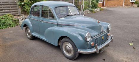 1954 Morris Minor, 1098cc. Registration number OUE 657. Chassis number FAJ-11/244273. Engine