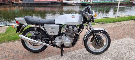 1977 Laverda Jota 180, 981cc. Registration number TTM 240R. Frame number LAV 1000 5512. Engine