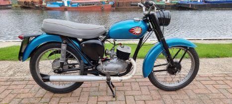1962 BSA Bantam Super D7, 175cc. Registration number 636 XVN (non transferrable). Frame number D7