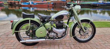1952 BSA A7 Star Twin, 499cc. Registration number WXG 560 (non transferrable). Frame number BA7S