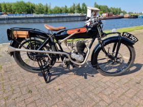 1924 Beardmore Precision, Barr & Stroud sleeve valve 350cc. Registration number PU 2421. Frame