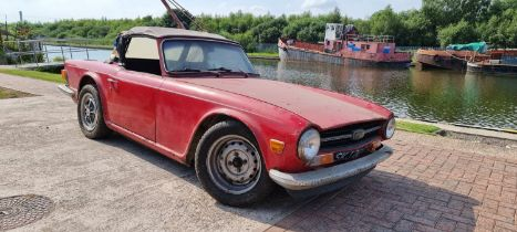 1969 Triumph TR6 Injection, Project. Registration number SKJ281G. Chassis number 25608CP. Engine