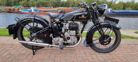 1937 Sunbeam Model 6 Lion, 492cc. Registration number 509 UXP (non transferrable). Frame number