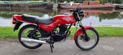 1981 Honda CB250RS, 248cc. Registration number OEK 230W. Frame number MC02-2002166. Engine number
