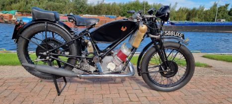 1938 Scott Flying Squirrel, 498cc, project. Registration number 588 UXE (non transferrable). Frame