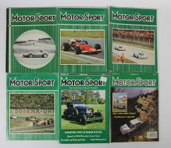 Motorsport magazine, a large collection, dating from c.1953 - 1992, approximately 320 issues
