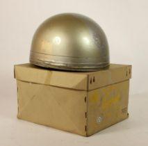 An Everoak model TT-ACU pudding basin helmet, in silver, size 7 1/4, purchased in 1961 from