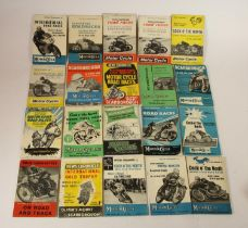 A collection of 20 Oliver's Mount 1950-60 motorcycle programmes