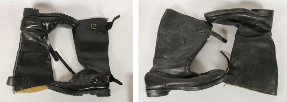 A pair of Last Spitfire leather and sheepskin boots, size 9 and a pair of Itshide Commando boots,