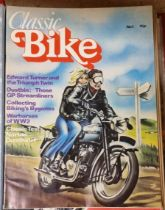 Classic Bike Magazine, a large collection, dating from issue 1, March 1978 through 1996, bound in
