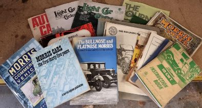 A collection of mainly Morris Bullnose literature, to include a 1969 Owners Club magazine, The Light