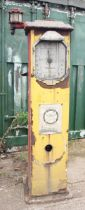 A Wayne petrol pump case, with Redex panel on front, 200 x 37 cm