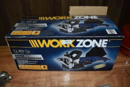 A modern boxed Workzone biscuit cutter
