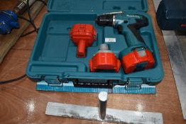 A Makita battery operated drill driver