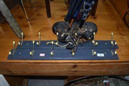 A selection of coat hooks