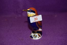 A Royal Crown Derby paperweight Bee Eater with a Gold stopper