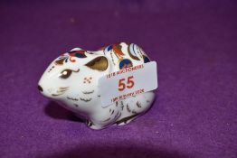 A Royal Crown Derby paperweight Bank Vole with gold stopper