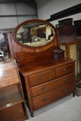 A traditional mahogany dressing table , width approx. 100cm