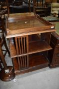 A late 19th/early 20th Century mahogany revolving bookcase, of large proportions, approx. Width