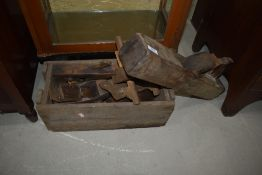 A selection of antique/vintage woodplanes