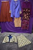 A selection of ladies vintage clothing,mixed styles and eras.