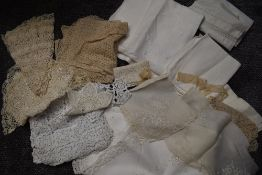 A variety of lace,crotchet work and table linen, some beautiful items amongst this lot.