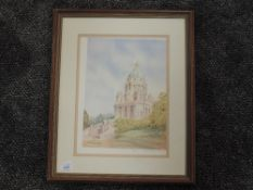 A ltd ed print, after Mario Ottonello, Ashton Memorial Lancaster, signed, numbered 129/500, and