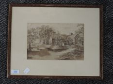 A watercolour, Reagill Foot, 19th century, indistinctly signed, and attributed verso, 16 x 25cm,