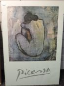 An Athena print, after Picasso, Blue Model, 1971, 90 x 60cm