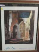 A gallery print, after John Piper, for Tate Gallery, London, 82 x 66cm, framed and glazed