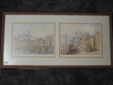 A ltd ed print after Mario Ottenello, Lancaster landscapes, numbered 120/500, signed, 30 x 78cm,