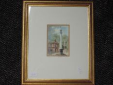 A watercolour, Moanie, Appleby, indistinctly signed, 13 x 9cm, framed and glazed