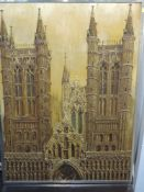 An oil painting, Selwyn Lloyd, Lincoln Cathedral, signed and dated (19)74, framed