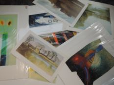 Five prints, after Russell Baker, inc Lydia IV, and three limited edition prints, landscapes