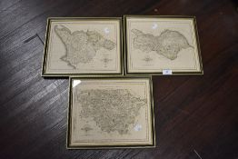 Three vintage maps or Yorkshire interest.