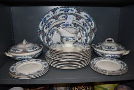 A part Corona ware 'Tokio' dinner service, around twenty four pieces, including tureens, platters