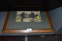 A framed and mounted watercolour depicting Dockray mill,Kendal by GW Appleby, also