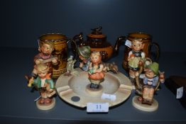 A collection of Goebel and other ceramics,including ashtray AF.