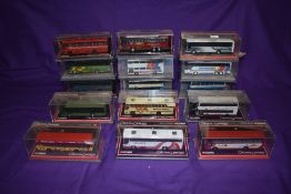 Fifteen Corgi (China) Limited Edition Original Omnibus diecast buses, including Robinsons, Bakers