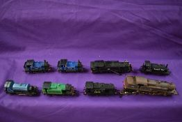 Six Hornby and similar 00 gauge 0-4-0 Tank Engines and two Airfix & Hornby Tank Locomotives