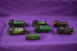 Seven Triang, Hornby and similar 00 gauge 0-6-0 tank engines, GWR, LNER etc