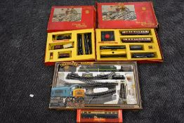 Two Triang 00 gauge part train sets, RS4 comprising 0-6-0 Tank locomotive, thee wagons and track,